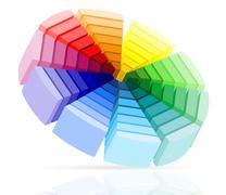 color palette illustration - stock illustration
