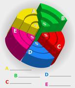 Infographics multicolor visually surround Stock Illustration