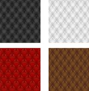 Set multicolored leather upholstery seamless background Stock Illustration