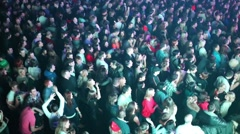 Viewers at a concert in a night club Arena Moscow. Stock Footage