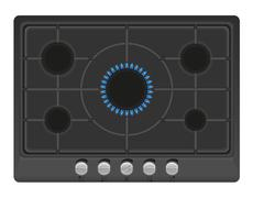 Surface for gas stove illustration Stock Illustration