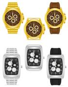 Gold and silver mechanical wristwatch illustration Stock Illustration