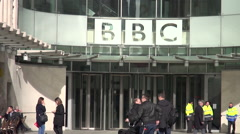 Portland Place BBC offices Stock Footage