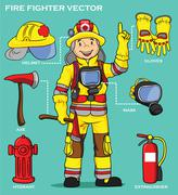 FIRE FIGHTER AND RESCUE Piirros
