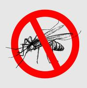 STOP MOSQUITO - stock illustration