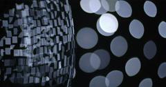 Silver Close Edge Mirrorball Disco Ball Defocus Bokeh Move Silver Stock Footage