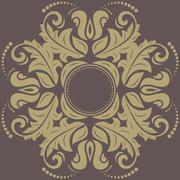 Damask Vector Pattern. Orient Background Stock Illustration