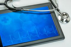 Stock Photo of Tablet pc with stethoscope
