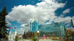 "Office building of the company ""Gazprom"", Tyumen Stock Footage"