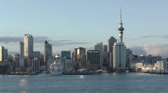 Auckland City Skyline, New Zealand - stock footage