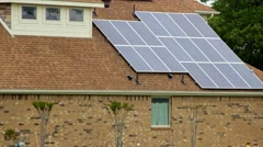 Solar Panels on House - stock footage
