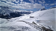 St. Moritz, Switzerland Ski Mountain 3 Stock Footage