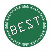 Best Icon, Badge, Label or Sticke - stock illustration