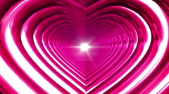 Broadcast Endless Hi-Tech Tunnel, Pink, Heart, Loopable, HD Stock Footage