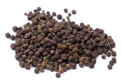 Black Peppercorns isolated Stock Photos