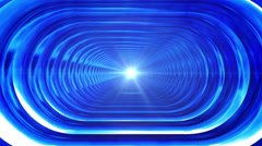 Broadcast Endless Hi-Tech Tunnel, Blue, Oval, Loopable, HD Stock Footage