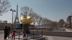 Time lapse Diana Memorial Eiffel Tower, Paris Stock Footage