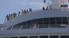 Japanese Cruise Ship Asaka II Docking in Auckland Stock Footage