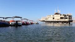 Peddal boats in Eilat Stock Footage