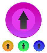 arrow up icon - stock illustration