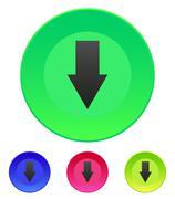 arrow down icon - stock illustration