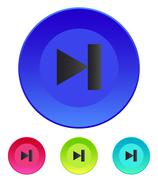 Next track web icon. Media player - stock illustration