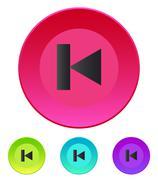 Previous track web icon. Media player - stock illustration