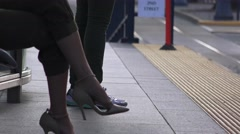 San Francisco, woman's leg with high heels Stock Footage