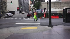 San Francisco, construction worker Stock Footage