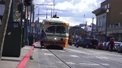 San Francisco, electric streetcar Stock Footage