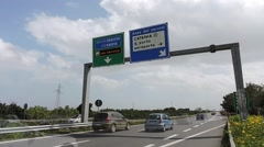 Motorway across Catania, tangenziale time lapse. Stock Footage