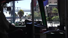 San Francisco, streetcars have no steering wheel Stock Footage