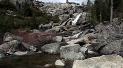 Upper Chilnualna Trail Falls And Stream Yosemite 2 Stock Footage