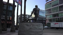 Willie Mays Statue Stock Footage
