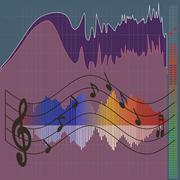 Musical spectrum Stock Illustration