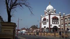Sikh gurdwara or temple in Handsworth, Birmingham. Stock Footage