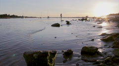 Algarve - Tavira - People at East Quatro Aguas Beach H Stock Footage