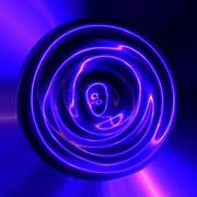Abstract blue violet plasma electric lightning texture usable seamlessly Stock Illustration