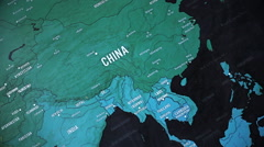Asia On World Map 4 Stock Footage