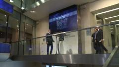 London Stock Exchange inside 25fps Stock Footage