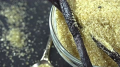 Portion of Vanilla Sugar (seamless loopable) Stock Footage