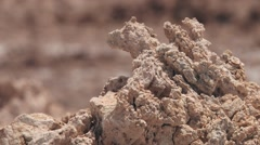 Exterior of the crystals of salt and clay in Atacama desert, Chile. Stock Footage