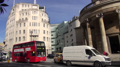 BBC Portland Place Stock Footage