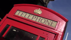Red Telephone box Stock Footage