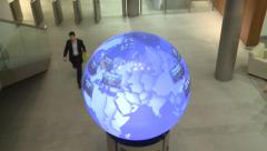 London Stock Exchange inside people coming in Stock Footage