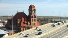 Traffic On Interstate 95 In Downtown Richmond, Virginia, USA - stock footage