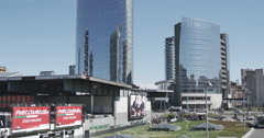 TOTALE piazza gae aulenti 3 Stock Footage