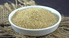 Brown Vanilla Sugar (not loopable) Stock Footage