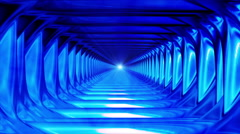 Broadcast Endless Hi-Tech Tunnel, Blue, Abstract, HD Stock Footage