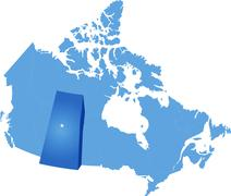 Map of Canada - Saskatchewan province - stock illustration
